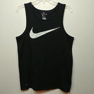Mens Nike Dri-Fit Tank Athletic Cut Black size Med